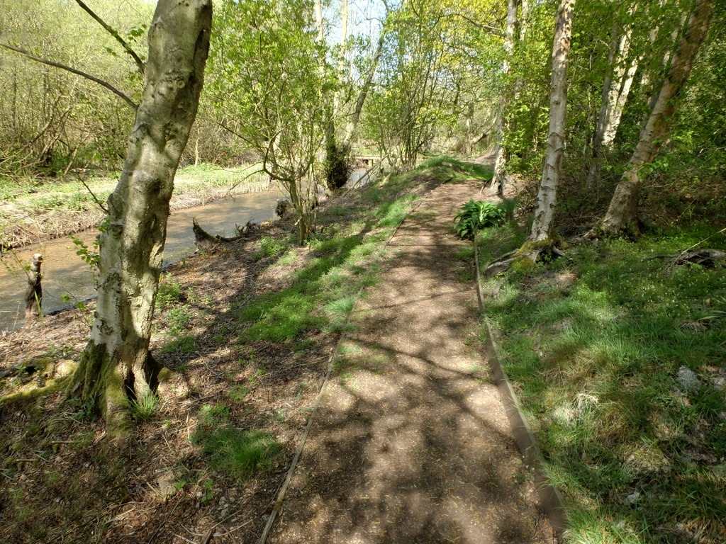 Continuing on the Dykeside Path