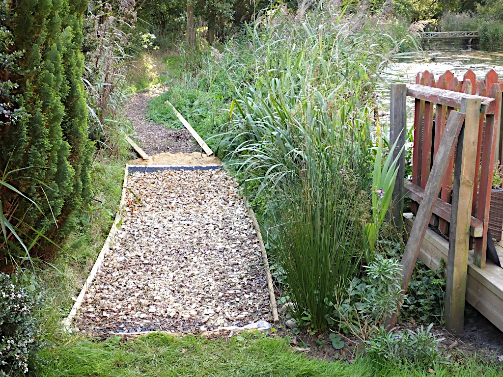 Chippings Path Relaid